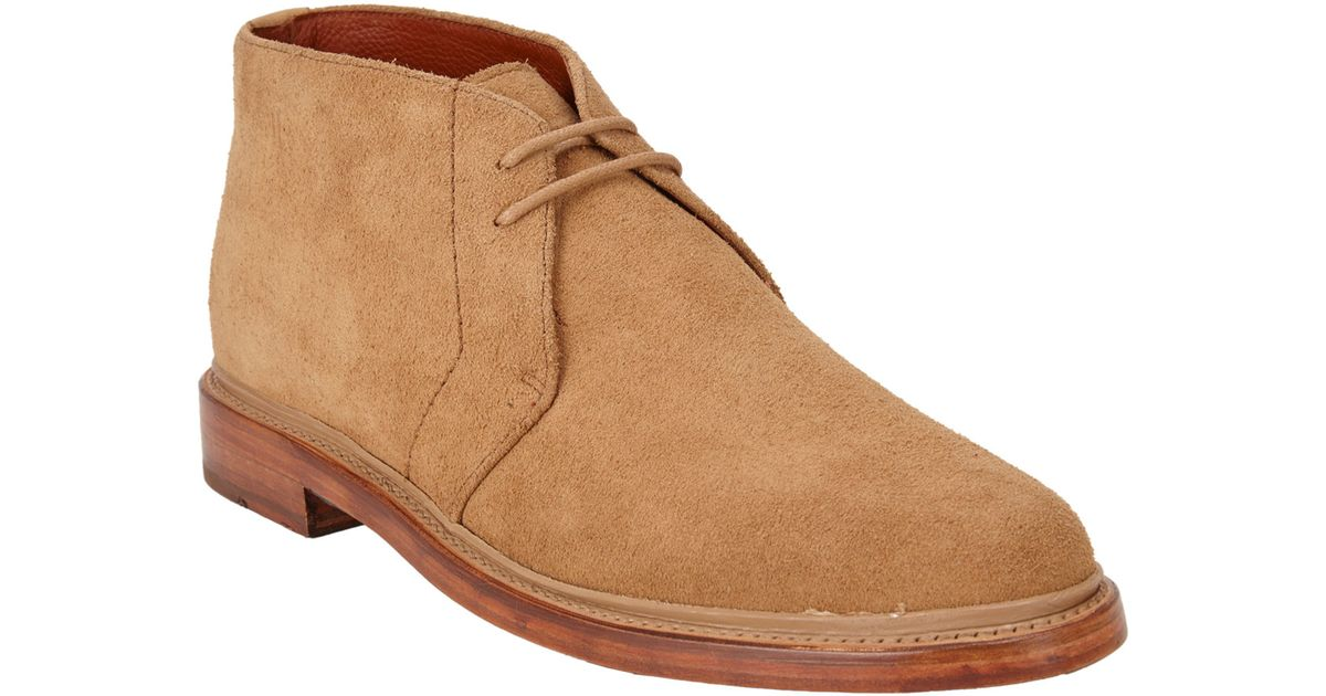 duckie brown s suede chukka boots in yellow