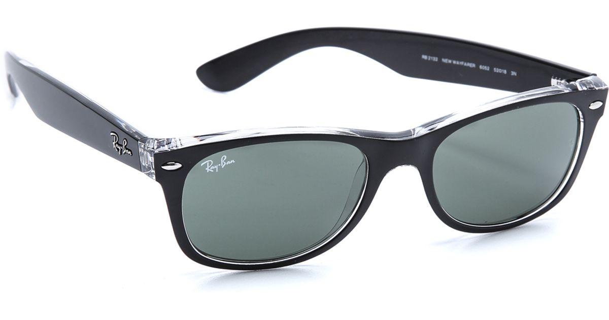 ray ban wayfarer schwarz transparent