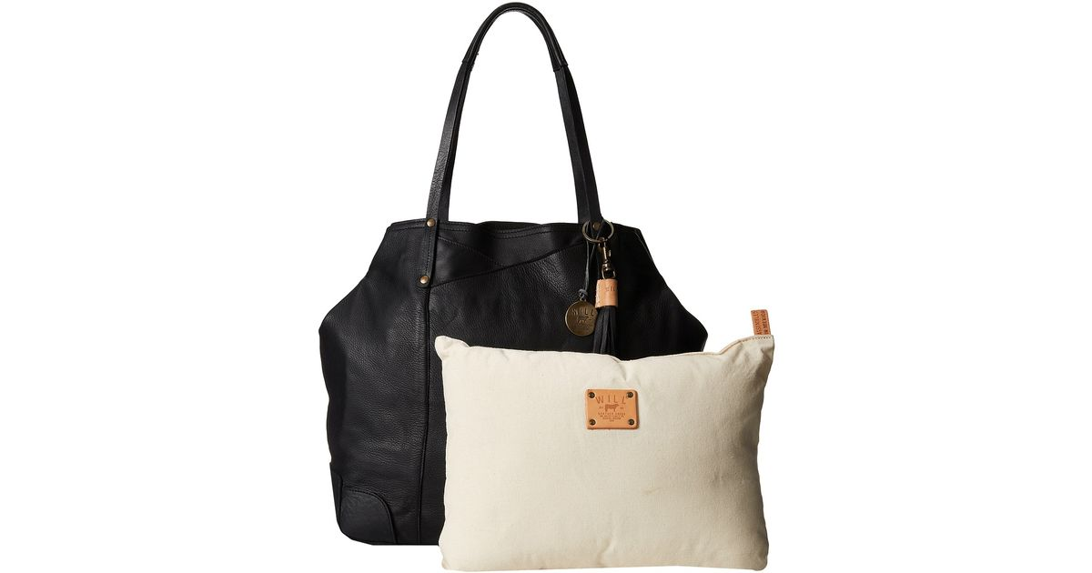 Will Leather Goods Black Adeline Tote