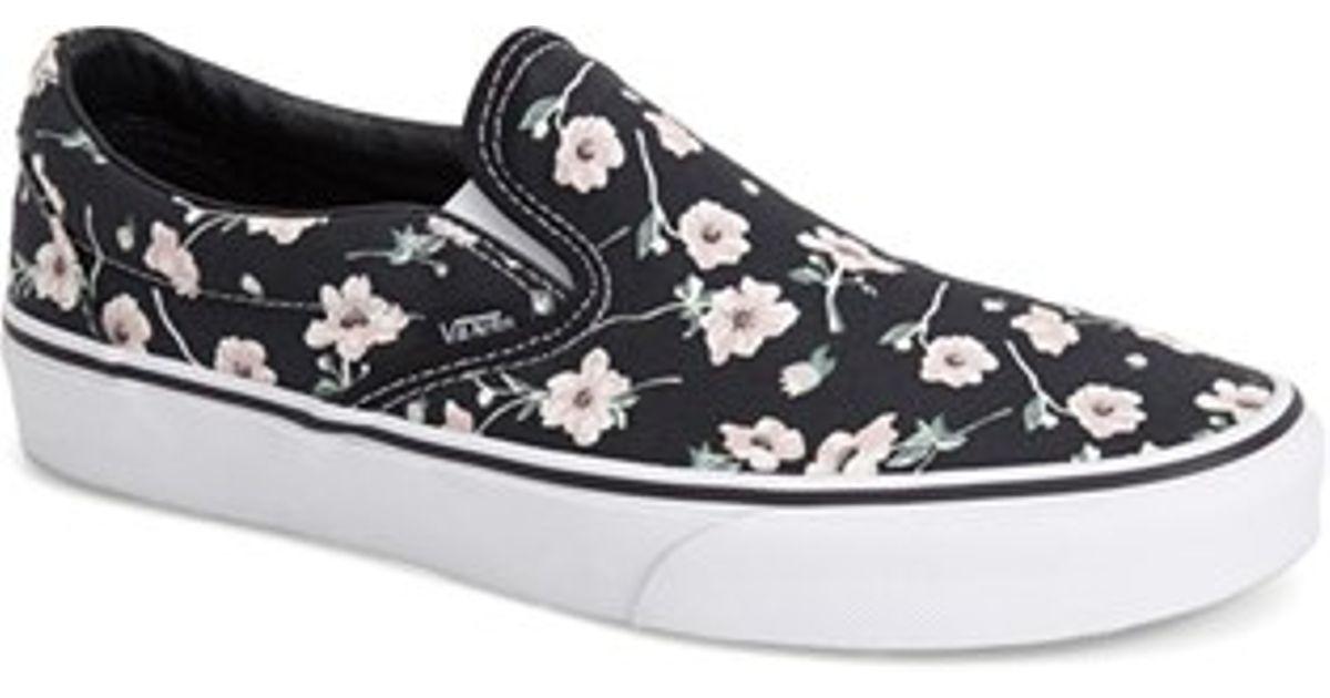 5441035cd6 Lyst - Vans  classic  Floral Print Slip-on in Blue