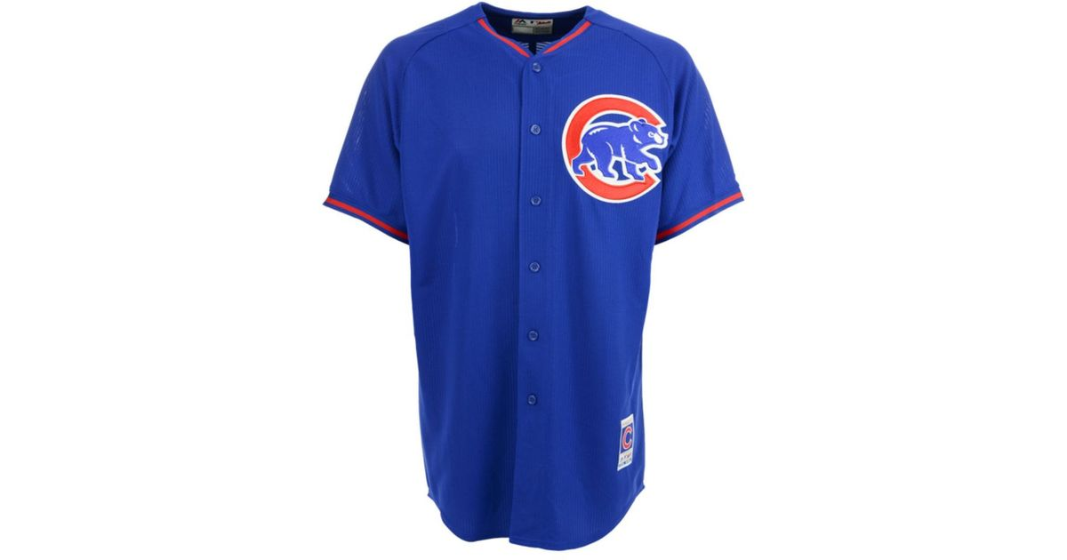 best sneakers 7c64a d7097 Majestic - Blue Men's Chicago Cubs Cool Base Jersey for Men - Lyst