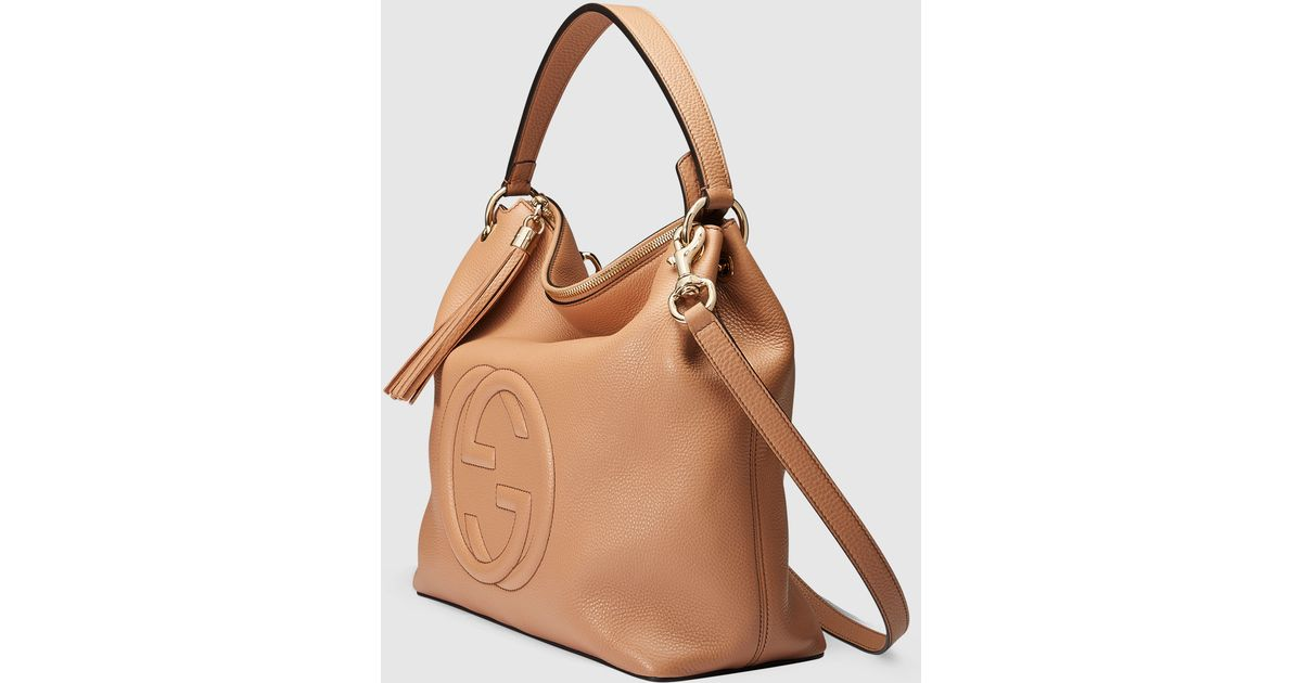 278ab196cfc92a Gucci Soho Leather Hobo in Brown - Lyst