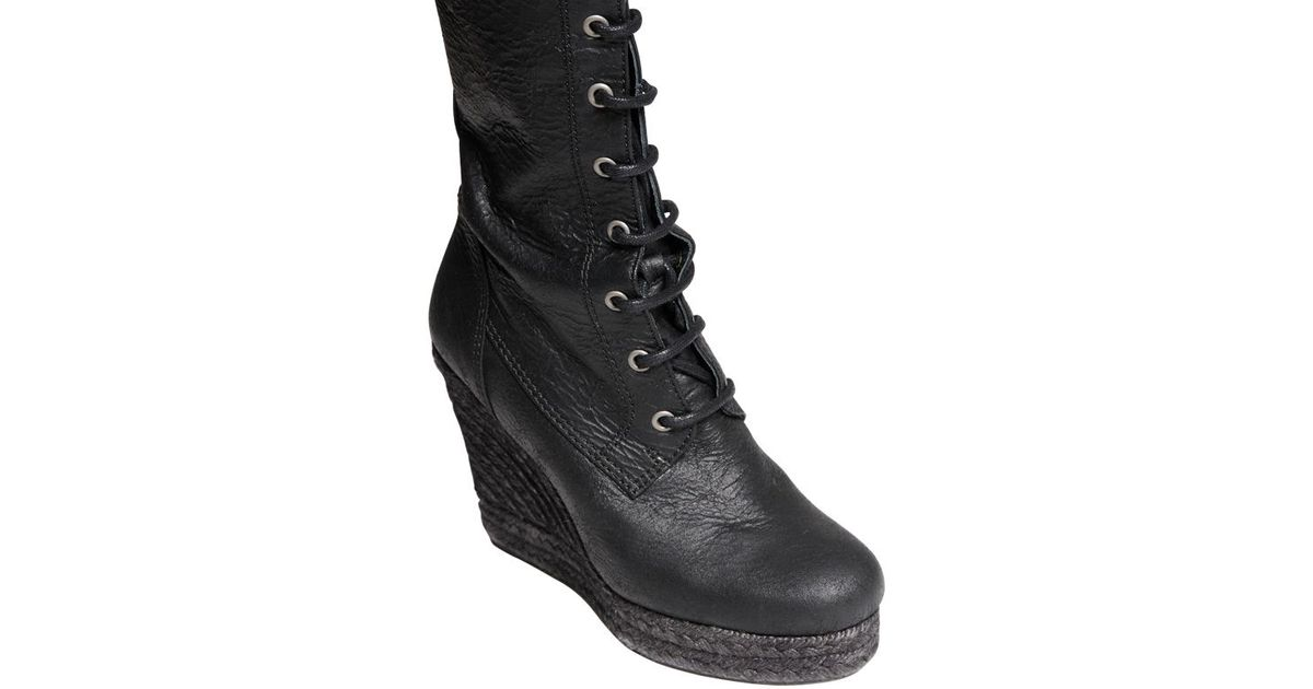 A.F.Vandevorst Textured Matte Nappa Leather Boots in Black - Lyst b2fe5ffe108