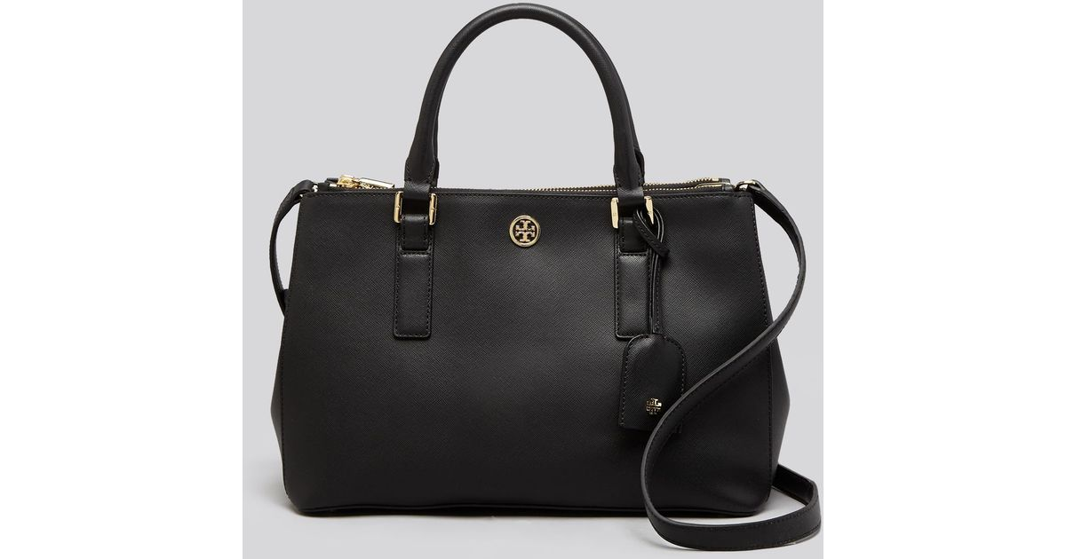 044bd11bf57 Tory Burch Robinson Mini Double Zip Tote in Black - Lyst