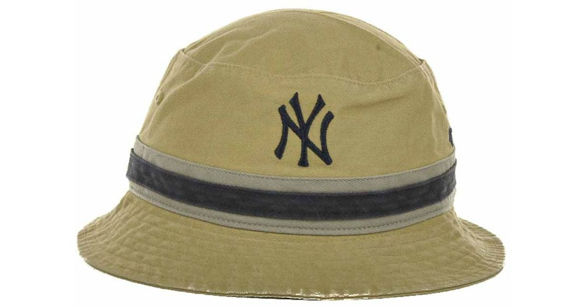 Lyst - 47 Brand New York Yankees Striped Bucket Hat in Natural 8a78d9e3abb