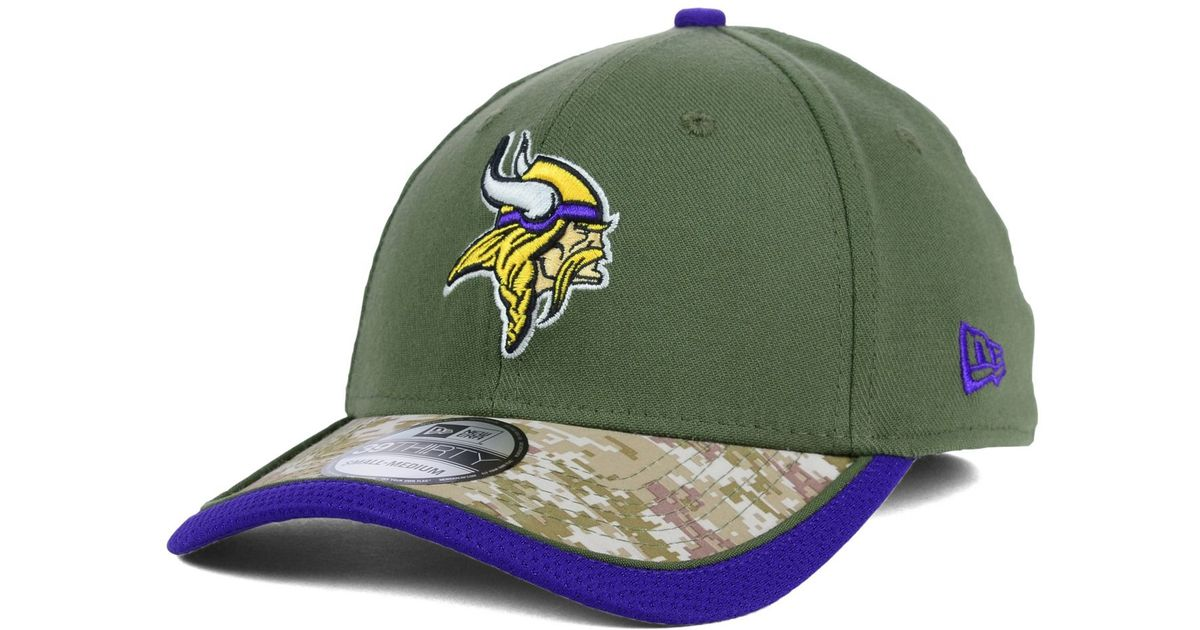 19ee2cec625 Lyst - KTZ Minnesota Vikings Salute To Service 39thirty Cap in Green for Men