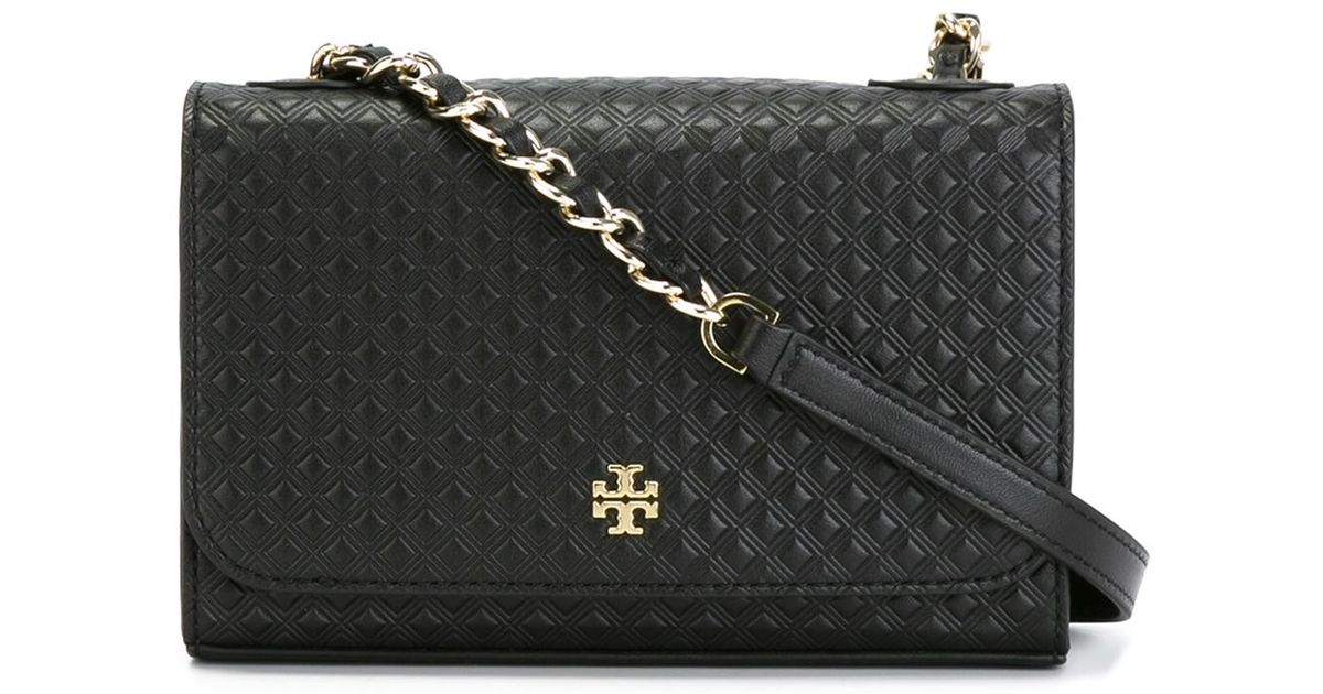 160255cf0a Tory Burch Quilted Crossbody Bag In Black Lyst. Tory Burch Mcgraw Slouchy  Leather ...