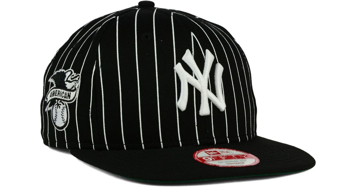 Lyst - KTZ New York Yankees Vintage Pinstripe 9fifty Snapback Cap in Black  for Men 893b7bcca12