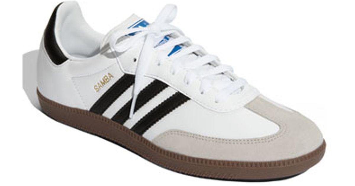 Lyst - adidas Originals  samba  Indoor Soccer Shoe in White e2252441761d9