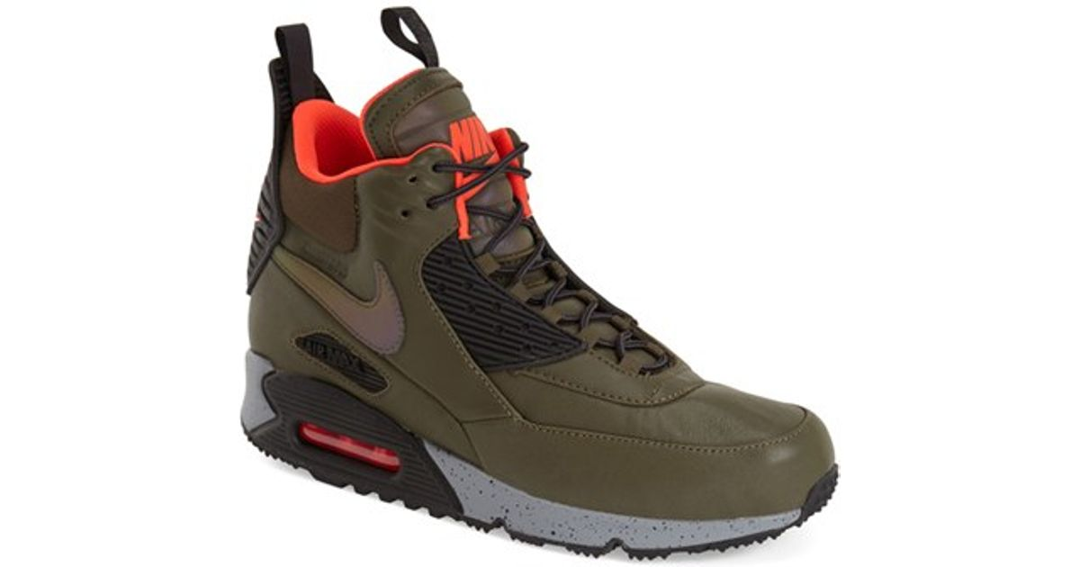 0fc7f404cc88 ... france lyst nike air max 90 winter high top sneakers in green for men  9d5d9 f290a