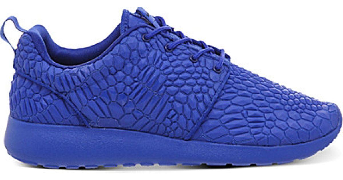 4ec0b73986af Nike Roshe Run Diamondback Trainers in Blue ...