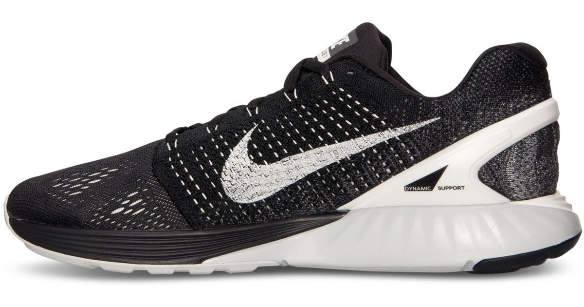 new concept a8f8f 3ca12 Lyst - Nike Men s Lunarglide 7 Running Sneakers From Finish Line in Black  for Men