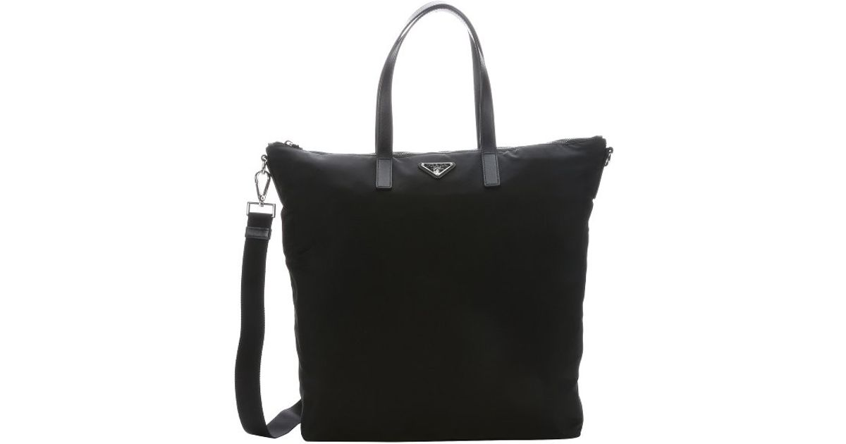 fc516845d482d1 ... shoulder tote bag 1ba843 8fa61 461a3; official store lyst prada black  nylon large convertible travel tote in black for men 0cd53 61bbb