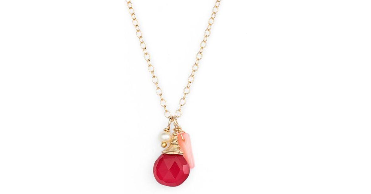 ki ele sea cluster pendant necklace in lyst