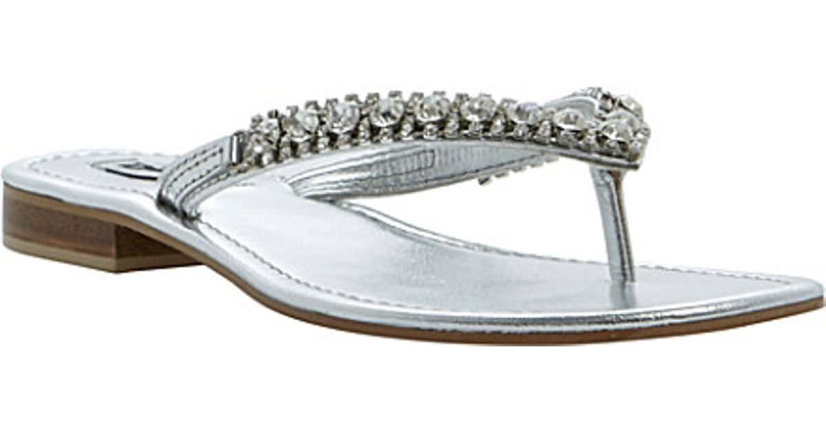 9ee24448c Dune Kiki Diamanté Flip Flops