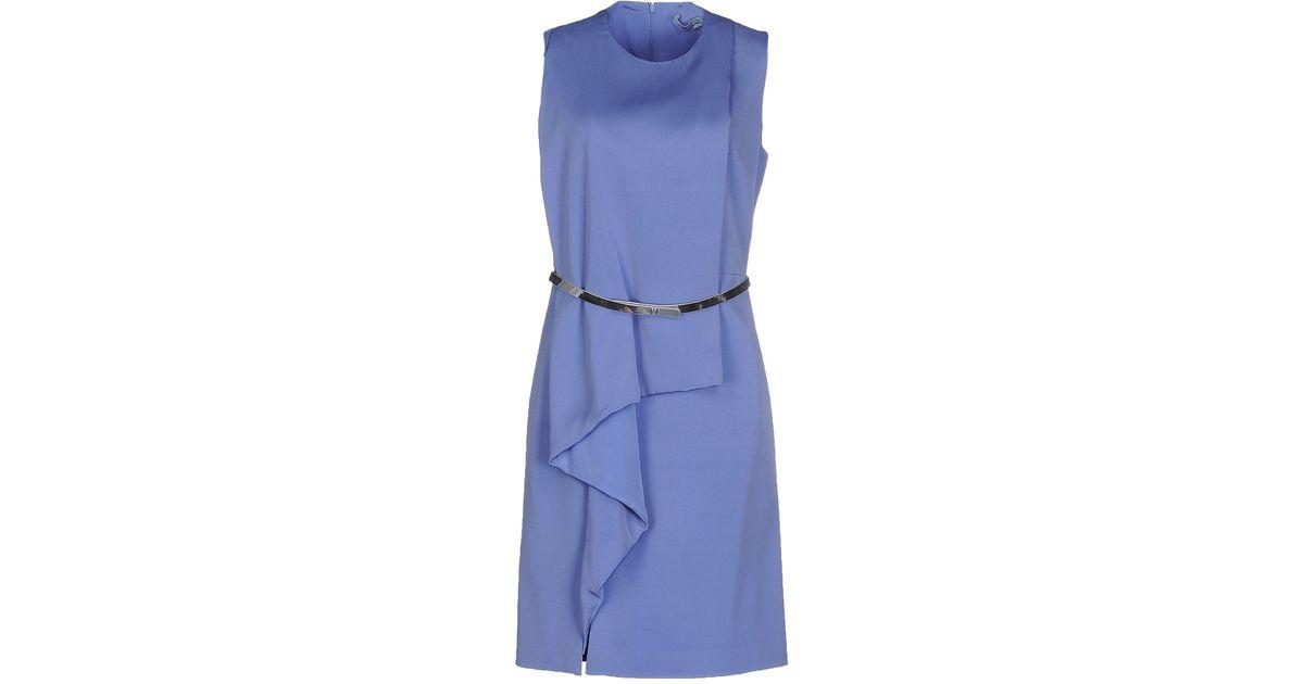 Lyst Blumarine Short Dress In Blue