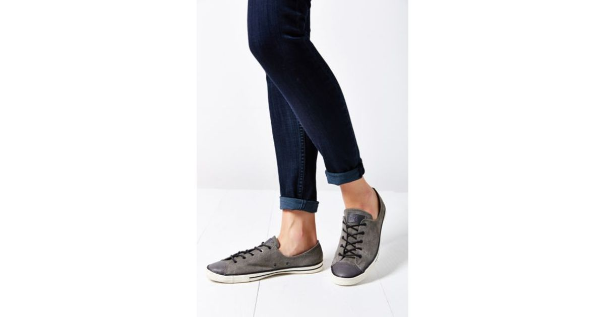 a686e807e465 Lyst - Converse Chuck Taylor All Star Fancy Suede Low-Top Women S Sneaker  in Gray