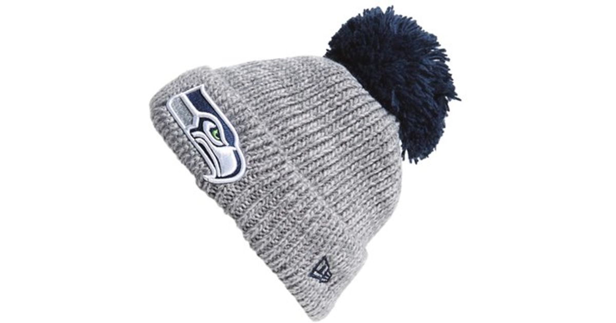 f04ca0c13 Lyst - KTZ 'cuff Star - Seattle Seahawks' Pompom Knit Beanie in Gray for Men