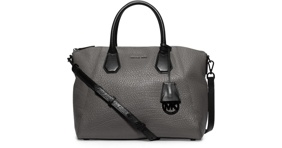 b8d412ffbad6 Michael Kors - Gray Campbell Large Leather Satchel - Lyst