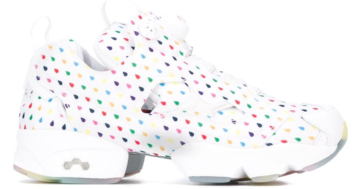 b1600cdcecf Lyst - Reebok White Rainbow Mid-Top Sneakers in White