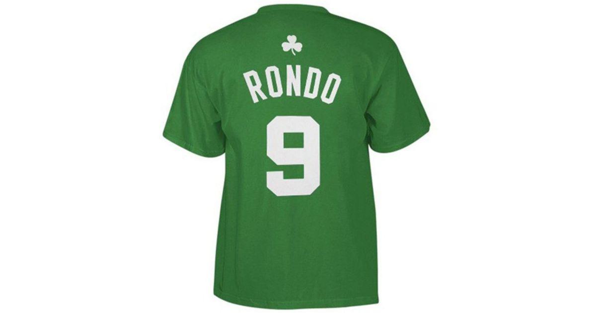wholesale dealer 66a3d 7f6e8 Adidas Originals - Green Men's Boston Celtics Rajon Rondo Player T-shirt  for Men - Lyst