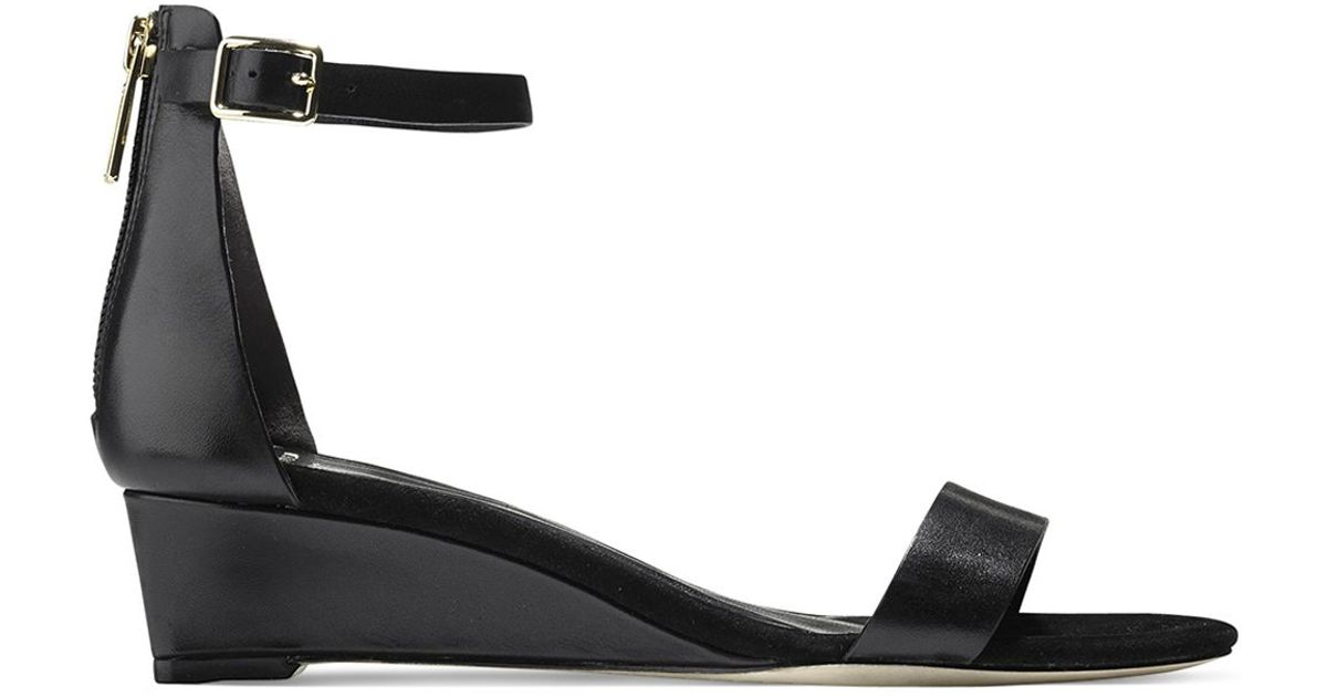 a441216d8ed4 Cole Haan Ankle Strap Wedge Sandals - Rossi Demi in Black - Lyst