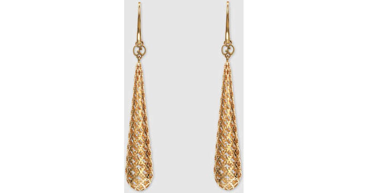 12b2f322e Gucci Diamantissima Earrings in Metallic - Lyst