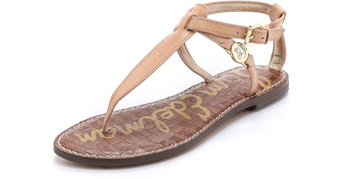 df1de951d Lyst - Sam Edelman Galia Thong Sandals - Natural Naked in Natural