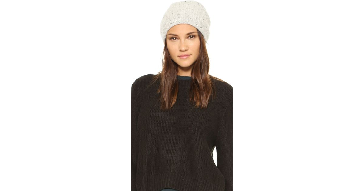 41e7f9a4d44 Madewell Cashmere Waffle Knit Hat in Gray - Lyst
