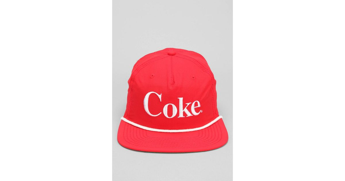 Lyst - Urban Outfitters Coke Snapback Hat in Red for Men c8e8ba2a511