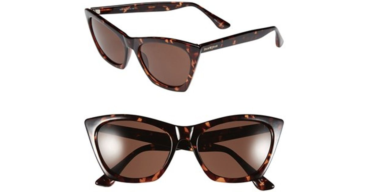 258b64431fcdf Lyst - Isaac Mizrahi New York 55mm Cat Eye Sunglasses in Brown
