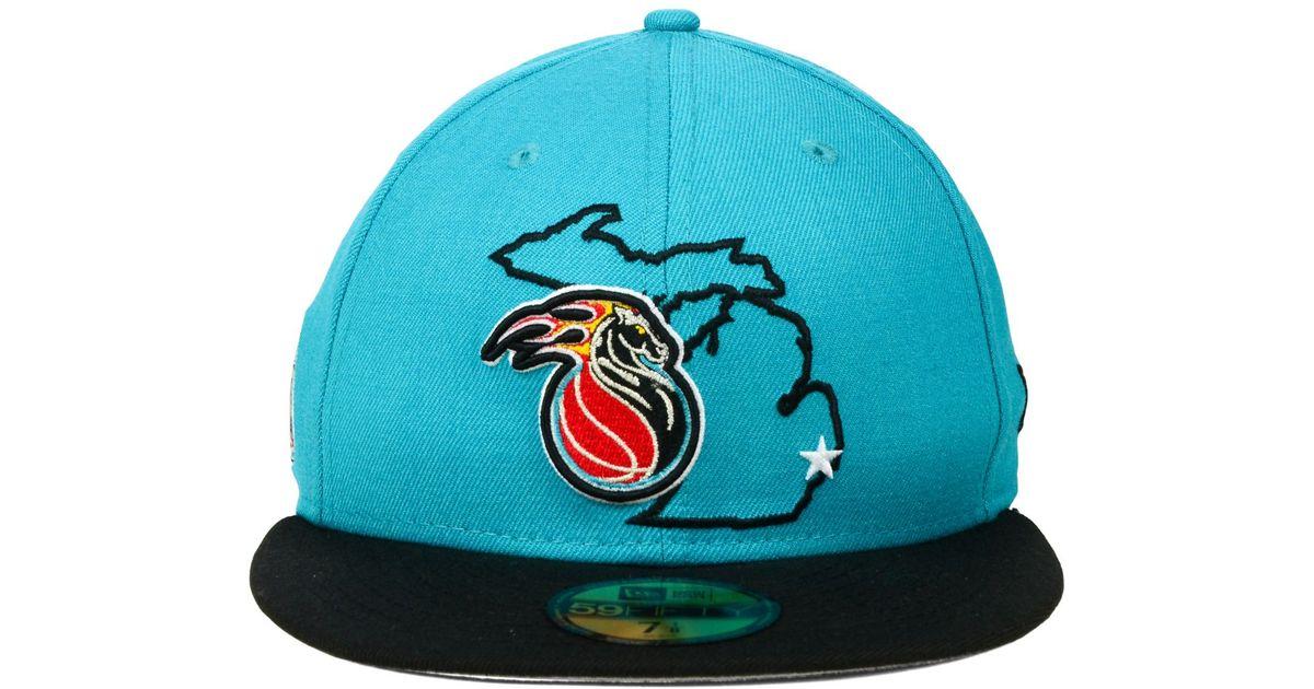 quality design 89ec0 16e2f KTZ Detroit Pistons Nba Hwc States 59Fifty Cap in Blue for Men - Lyst