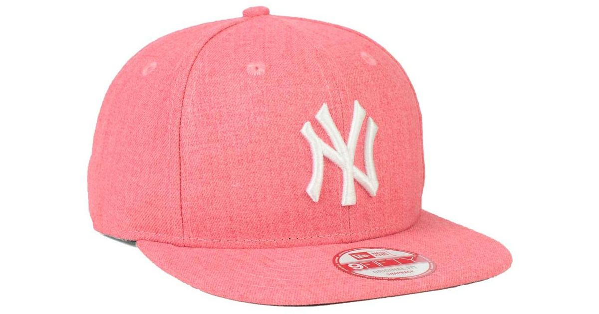 Lyst - KTZ New York Yankees Heather C-dub 9fifty Snapback Cap in Red for Men 36e9f9c3a7ee
