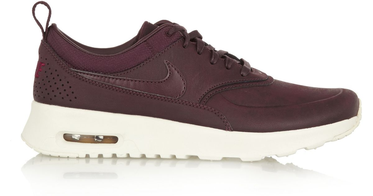 best sneakers 5039a f51a2 Nike Air Max Thea Premium Leather Sneakers in Purple - Lyst