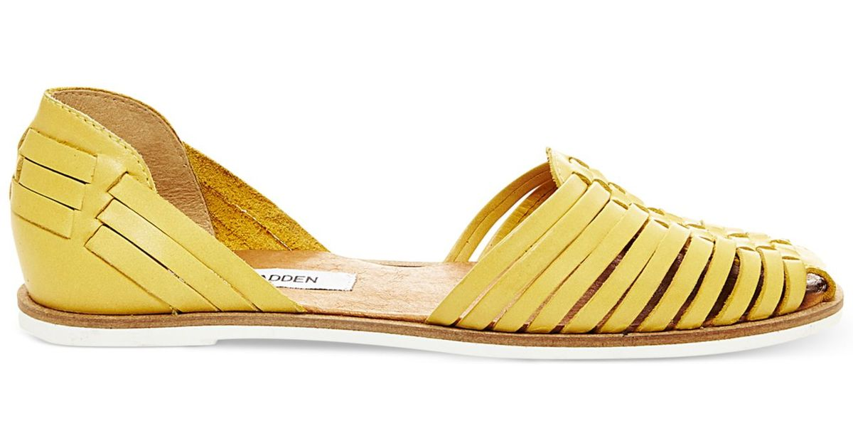 698ab61431d9 Lyst - Steve Madden Women s Hillarie Huarache Slip-on Sandals in Yellow