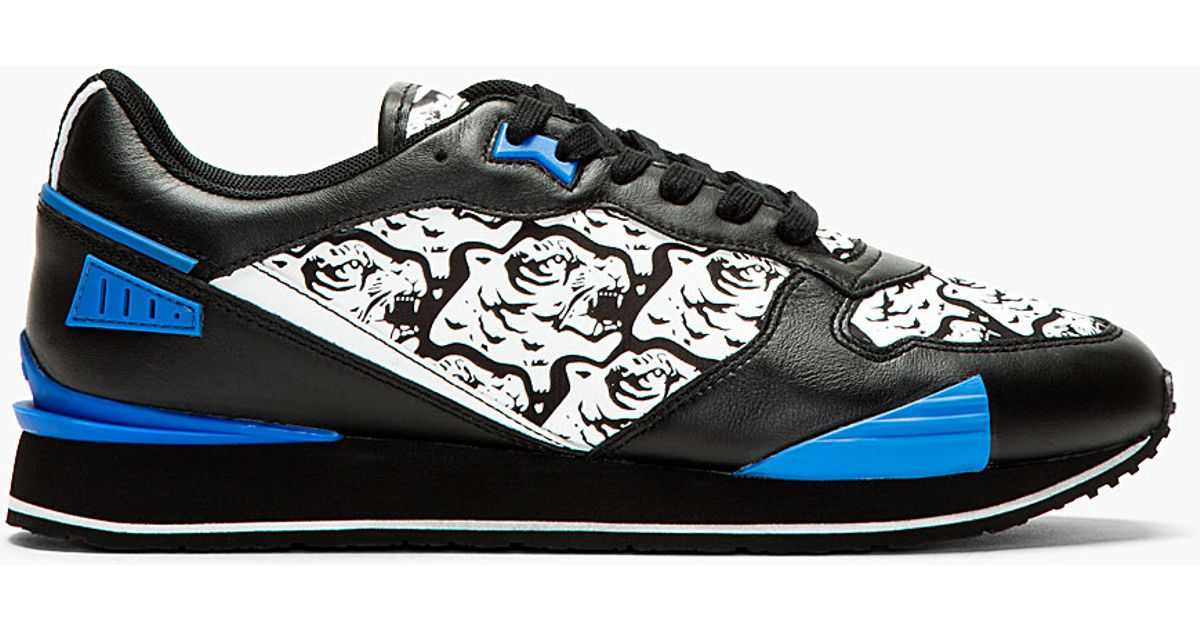 For Running Lyst Shoes Men White Kenzo Black Print And Tiger wxRwYXz0q
