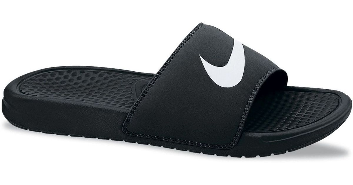 b22f5c2de0cc ... where to buy lyst nike mens benassi swoosh massage slide sandals from  finish line in black