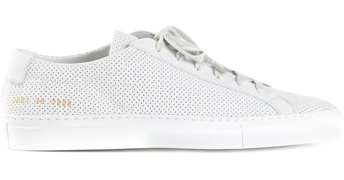 Common projects Perforated Sneakers in White | Lyst