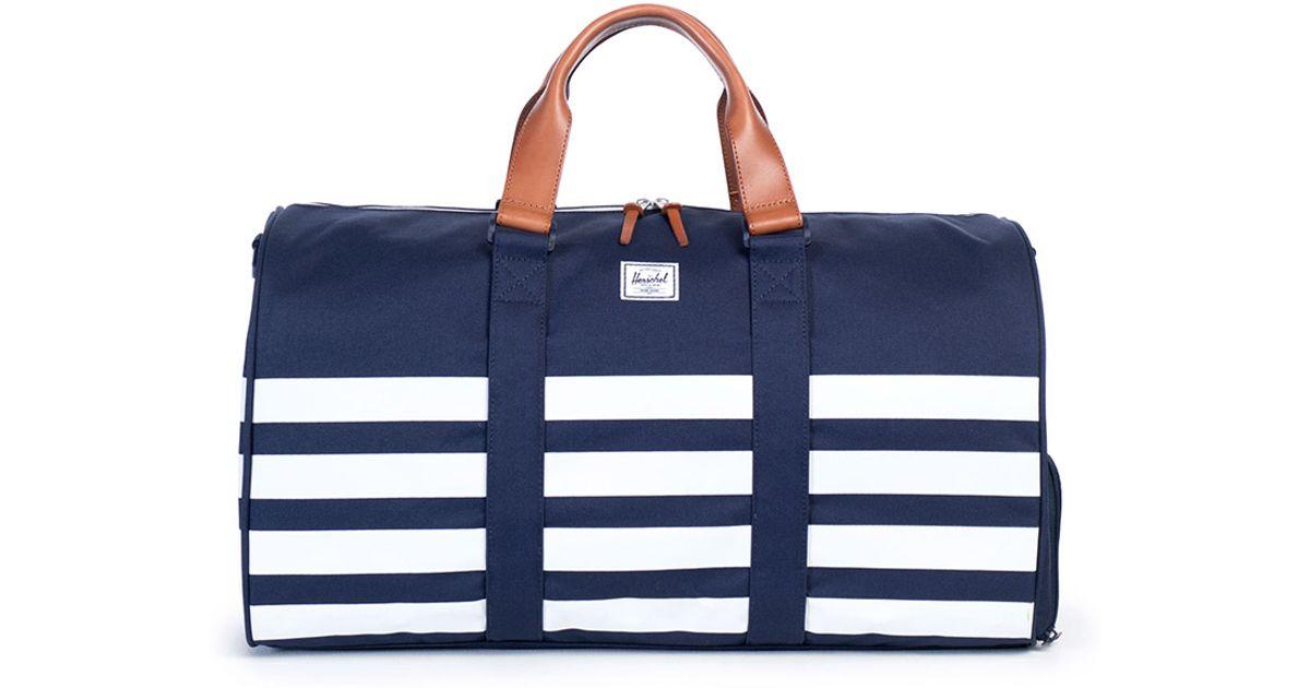 0046bb412eae7 Lyst - Herschel Supply Co. Novel Striped Duffle Bag Navy in White for Men