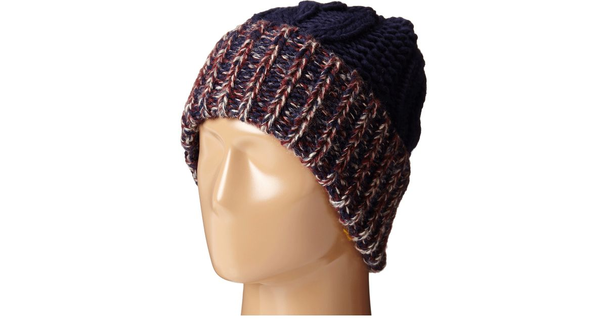 Lyst - San Diego Hat Company Knh3378 Oversized Cable Knit Beanie With  Marled Yarn Cuff in Blue bcfd217406e