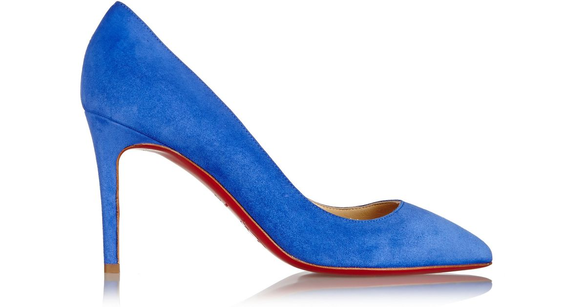 e2dc8aa5465b Christian Louboutin Pigalle 85 Suede Pumps in Blue - Lyst