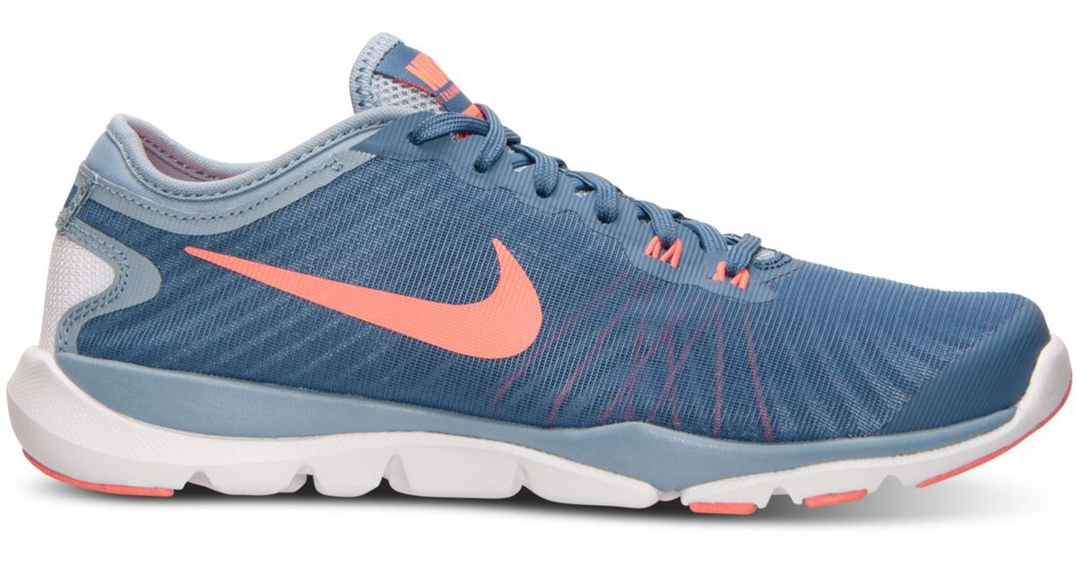 d4739a46c4b2b Lyst - Nike Women s Flex Supreme Tr 4 Training Sneakers From Finish Line in  Blue