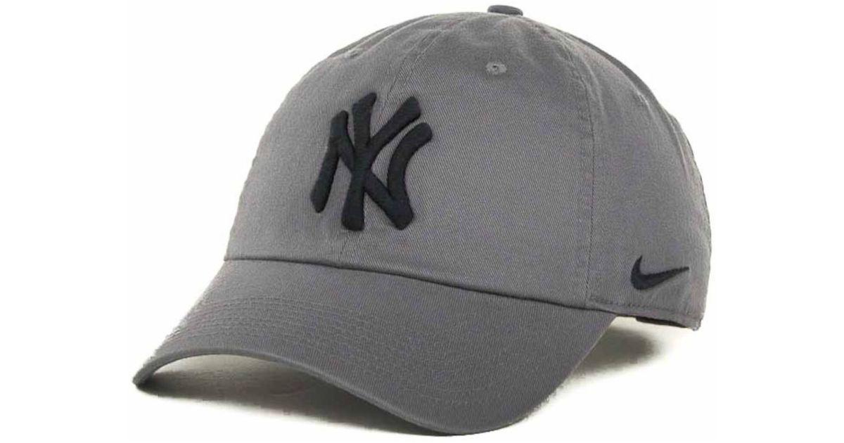 Lyst - Nike New York Yankees Stadium Cap in Gray for Men bd34dfd7263