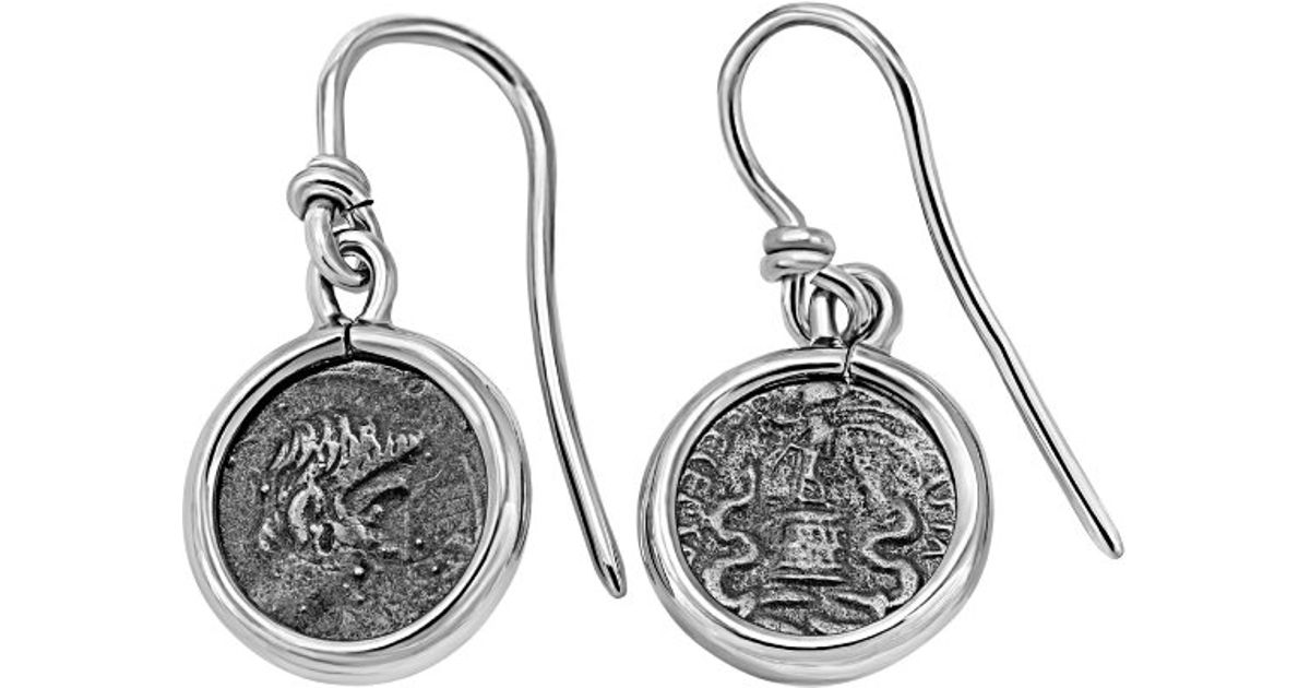 Lyst - 1884 Collection 1884 - \'legacy\' Sterling Silver Wire Earrings ...