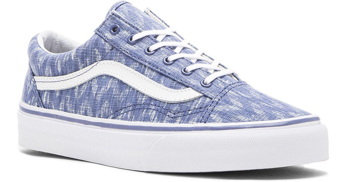 184e54d183 Lyst - Vans Old Skool Denim Chevron Sneaker in Blue