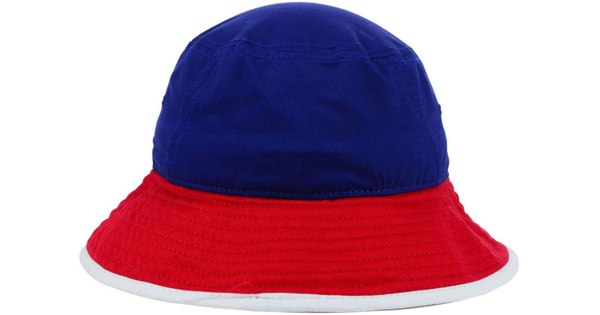 b92c883f3db Lyst - KTZ Chicago Cubs Triple Color Tipped Bucket Hat in Blue for Men