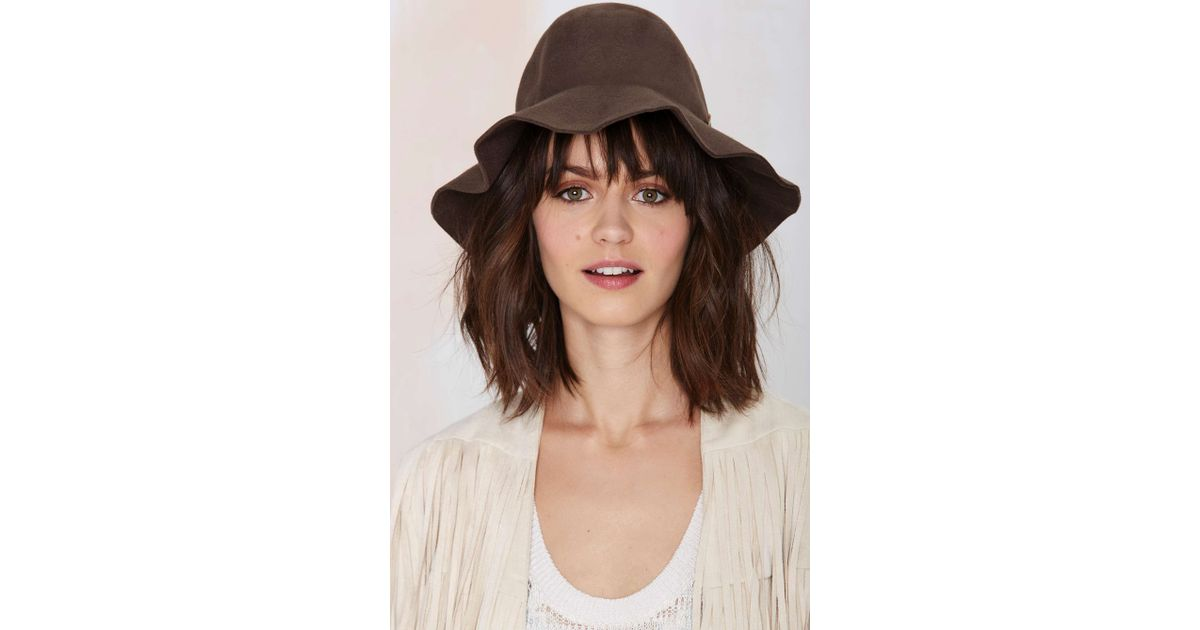 7cb3061428732 Nasty Gal Brixton Jethro Wool Hat in Brown - Lyst