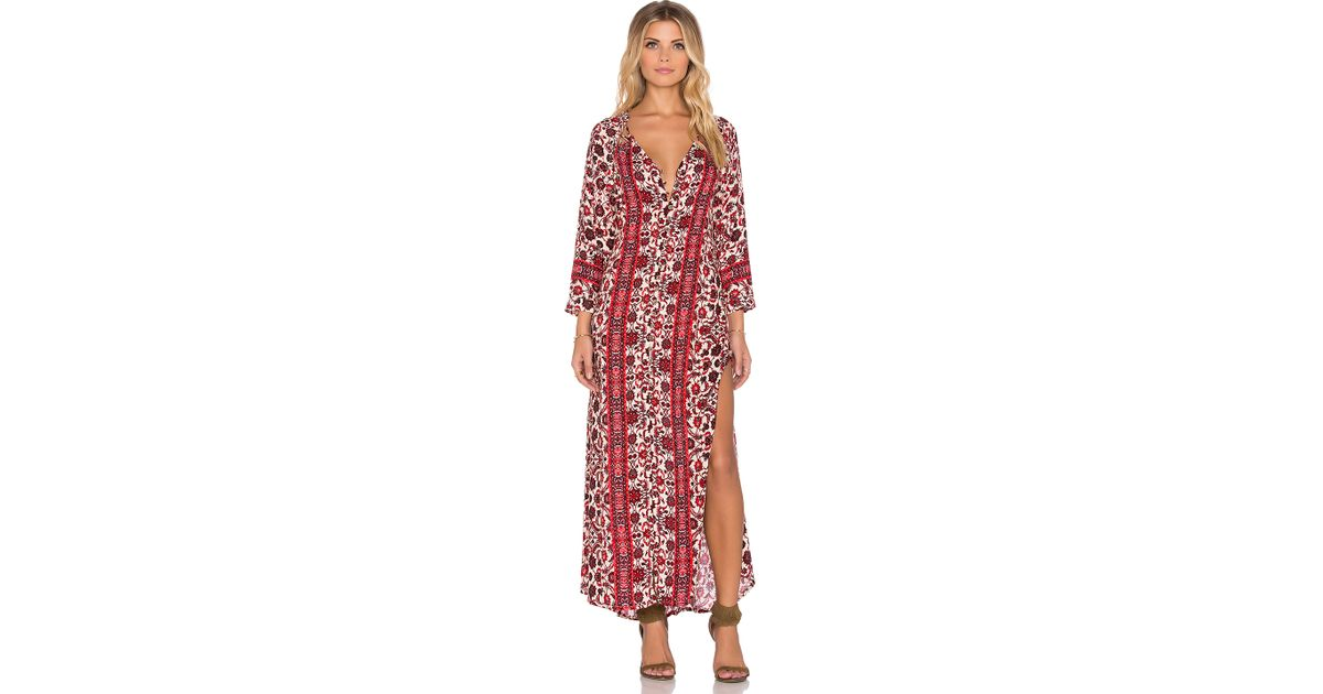 Gypsy 05 Printed Lace Maxi Dress in White  Lyst
