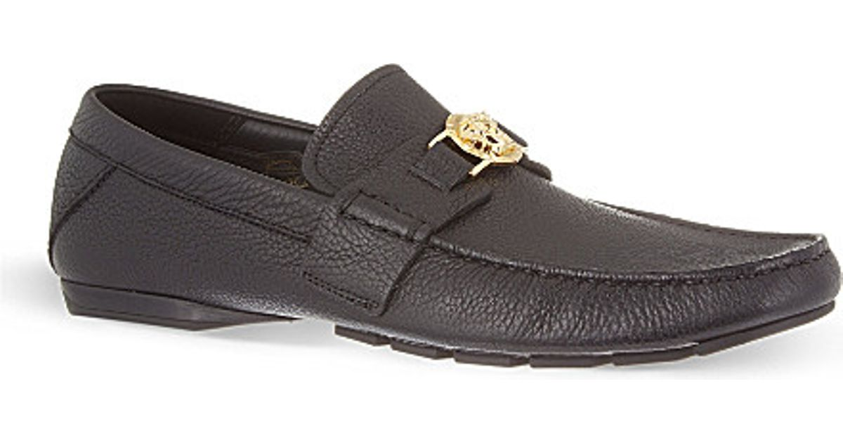 c4078f36dbf Lyst - Versace Medusa Penny Loafers for Men