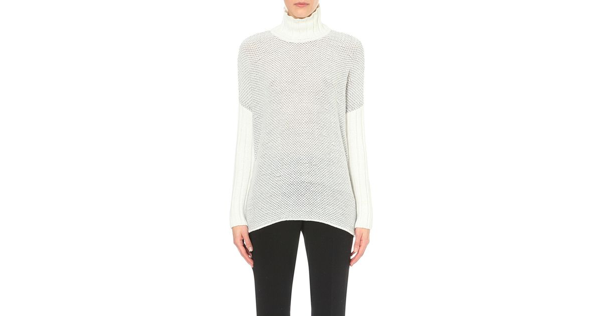 afab7fdcd8 Pringle of Scotland Cashmere And Silk-blend Turtleneck Jumper in Gray - Lyst